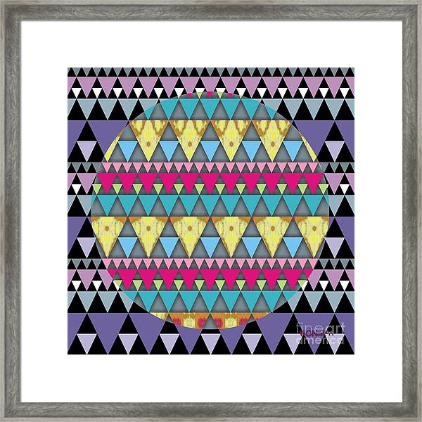 S-pyramids 1 Framed Print