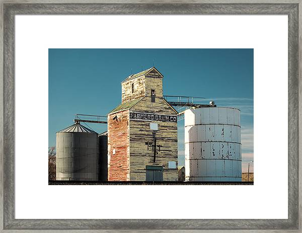 Saco Grain Elevator Framed Print