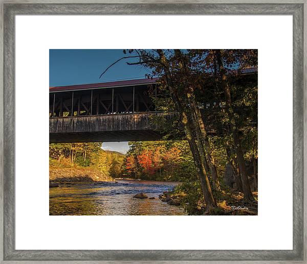 Saco River Covered Bridge Framed Print