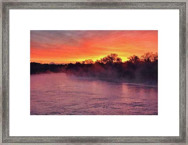 Sacramento River Sunrise Framed Print
