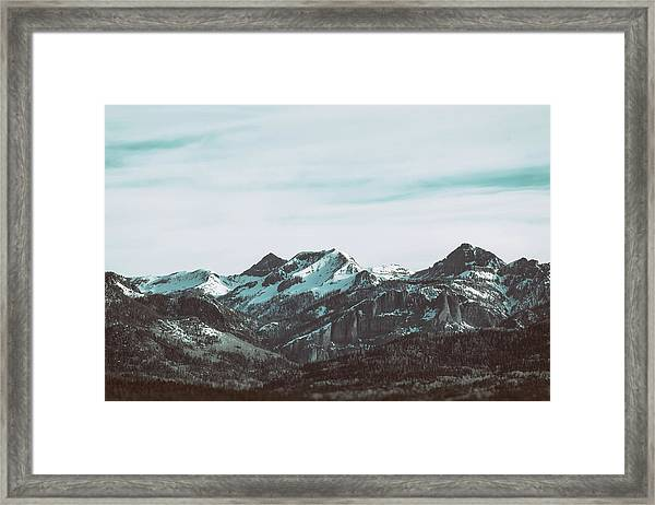 Saddle Mountain Morning Framed Print