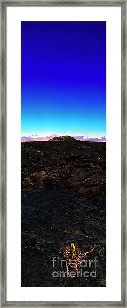 Saddle Road Humuula Lava Field Big Island Hawaii  Framed Print