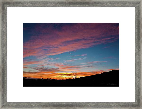 Saddle Road Sunset Framed Print