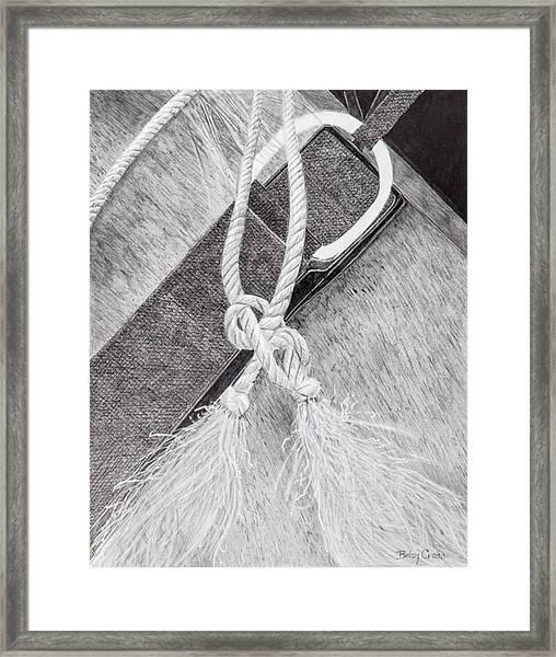 Saddle Strap Framed Print