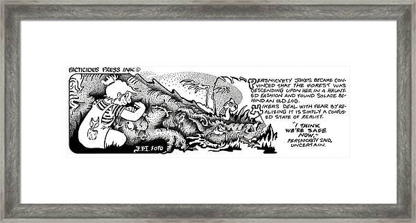 Safe Now Fpi Cartoon Framed Print