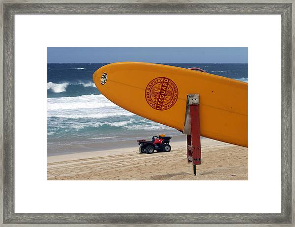 Safety First, Oahu Framed Print