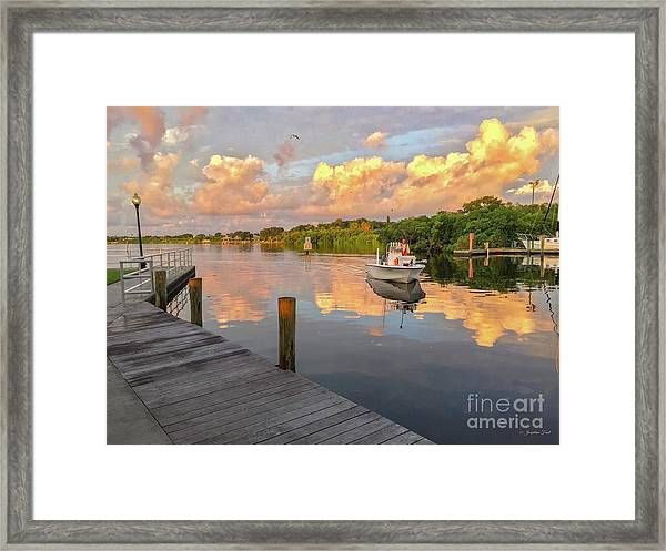 Safety Harbor Fisherman  Framed Print
