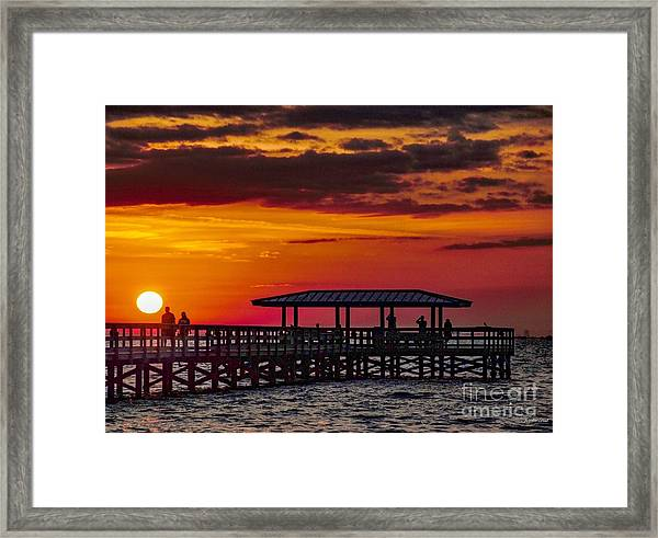 Safety Harbor Sunrise Framed Print