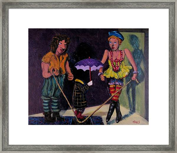 Safety Net Without Strings Framed Print