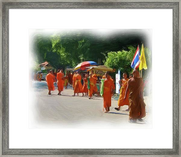Saffron Everywhere Framed Print