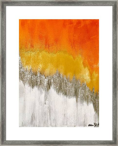 Saffron Sunrise Framed Print