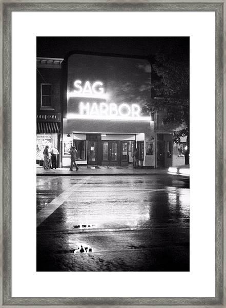 Sag Harbor Movie Theater Framed Print