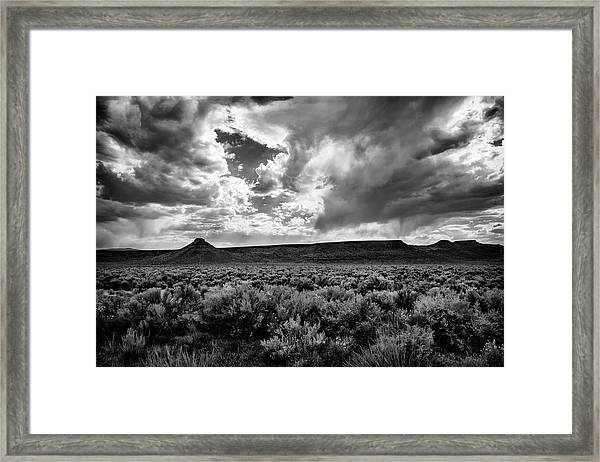 Sage And Clouds Framed Print