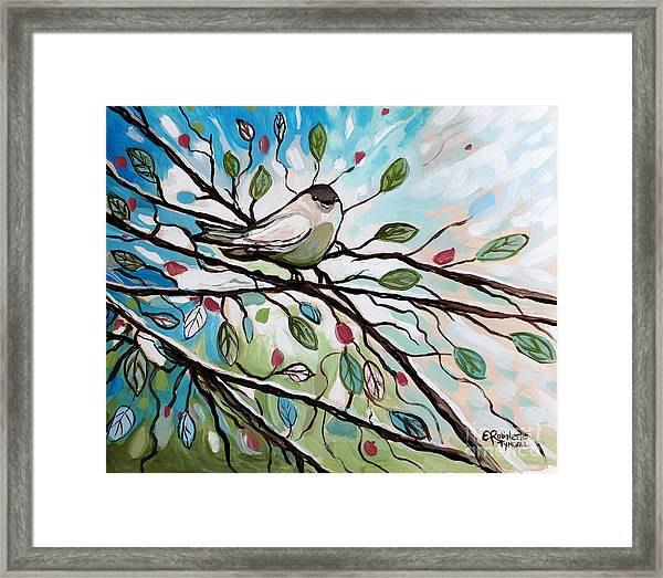 Sage Glimmering Songbird  Framed Print