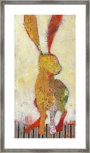 Framed Print featuring the painting Sage Hopper by Shelli Walters