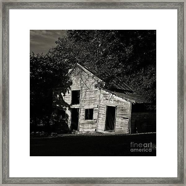 Sagging Barn Framed Print