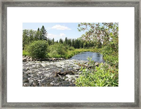 Saginas Lake Framed Print