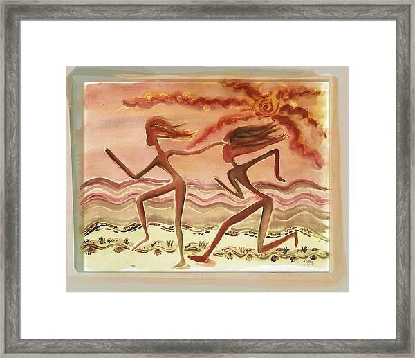 Saharan Runners Framed Print
