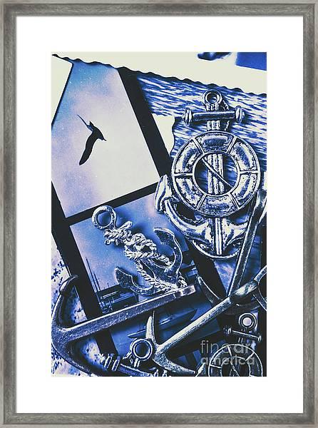 Sail Anchors And Boat Buoys  Framed Print
