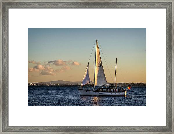 Sail Away From Lisbon Framed Print