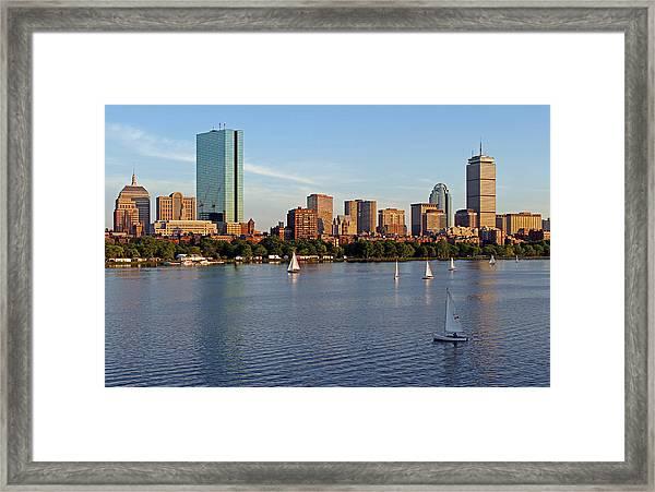Sail Boston Framed Print