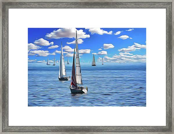 Sail Day Framed Print