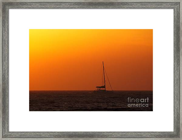 Framed Print featuring the photograph Sailboat Waiting by Jeremy Hayden