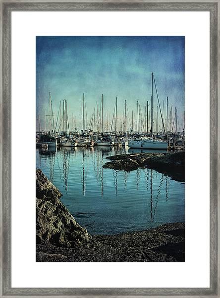 Marina - Digitally Textured Framed Print