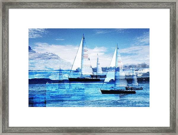 Sailboats Framed Print by Matthew Robbins