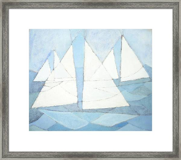 Sailboats On Water  Framed Print