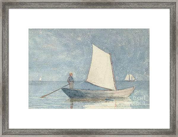 Sailing A Dory Framed Print