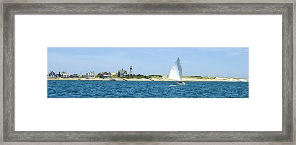 Sailing Around Barnstable Harbor Framed Print