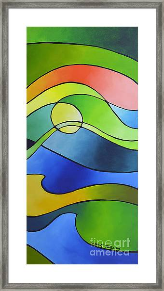Sailing Away, Canvas Three Framed Print