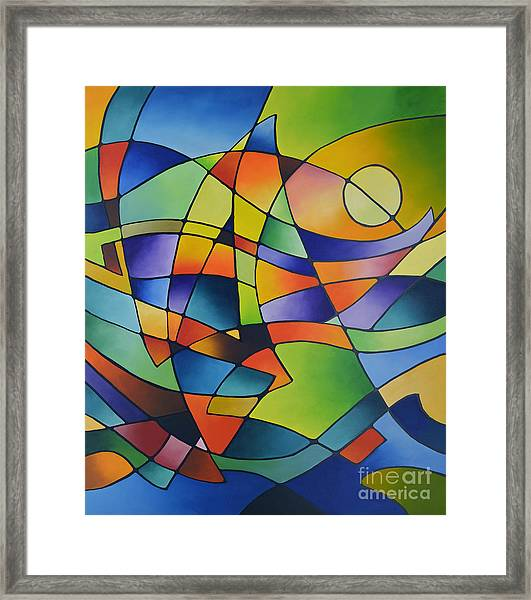 Sailing Away, Canvas Two Framed Print