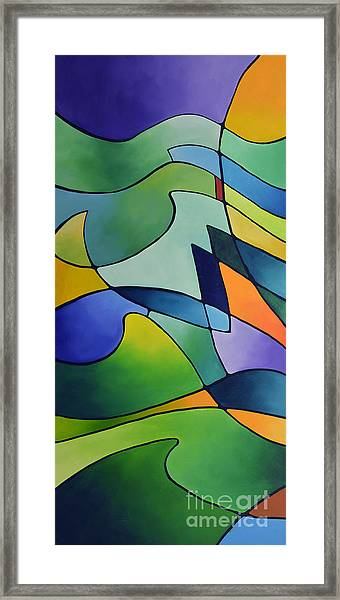 Sailing Away, Canvas One Framed Print