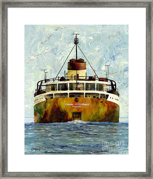 Sailing Away - The Edmund Fitzgerald Framed Print