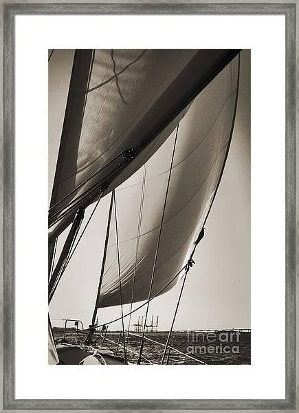 Sailing Beneteau 49 Sloop Framed Print