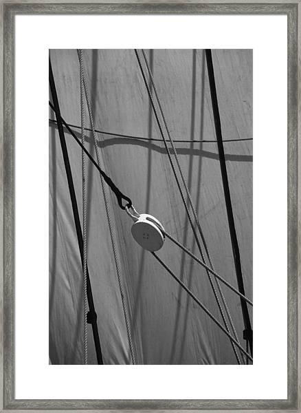 Sailing Block Framed Print