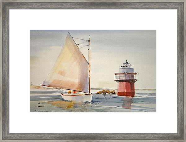 Sailing By Buglight  Framed Print