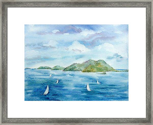 Sailing By Jost Framed Print