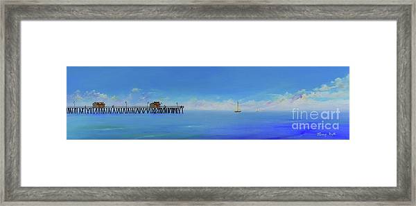 Sailing By San Clemente Framed Print