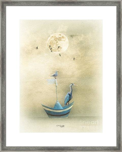 Sailing By The Moon Framed Print