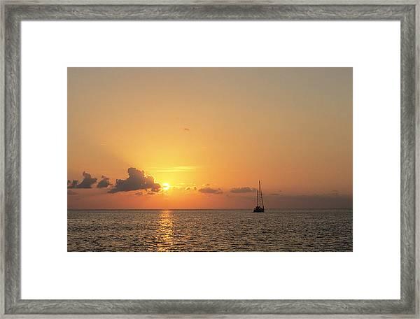 Crusing The Bahamas Framed Print