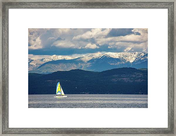 Sailing Flathead Lake Framed Print