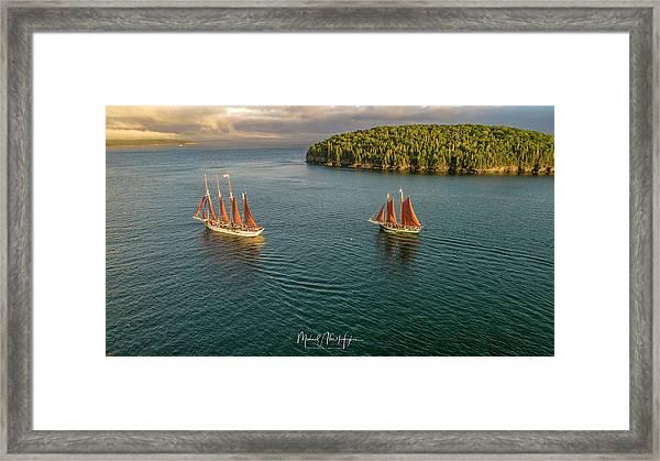Sailing Frenchman Bay Framed Print