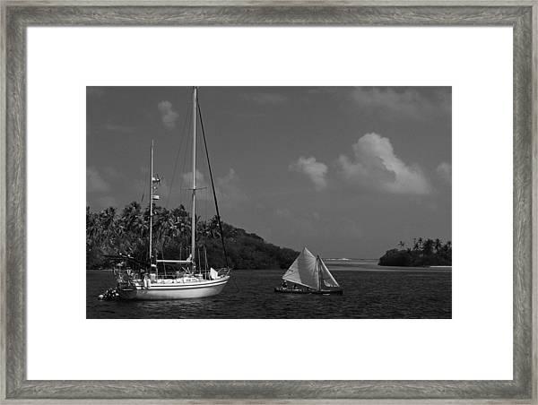 Sailing In The San Blais Islands Framed Print