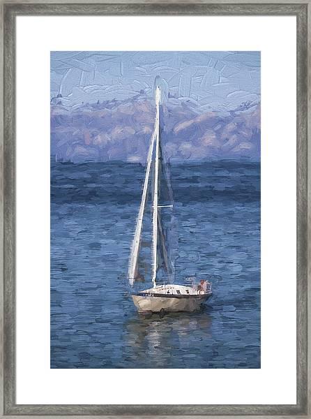 Sailing Lake Tahoe Framed Print
