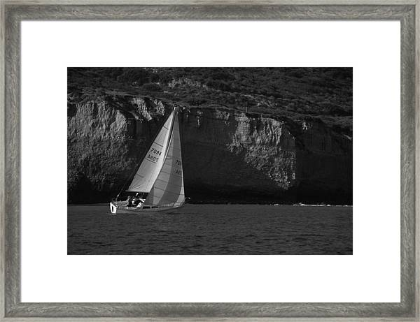 Sailing Off Southern California Framed Print