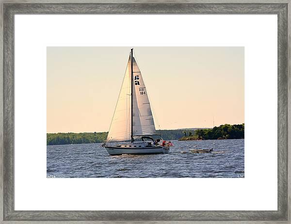 Sailing On Lake Murray Sc Framed Print