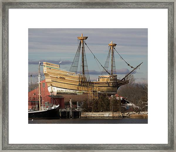 Sailing Ship Repairs Framed Print